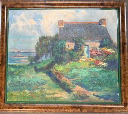 Marcel CANET (1875-1959)  Chaumière au bord...