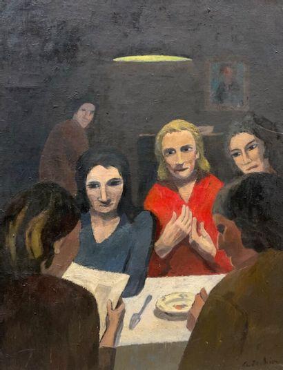 Georges JOUBIN (1888-1983)  Scène d'intérieur...