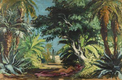 Josué GABORIAUD (1883-1955)  Odalisque dans...