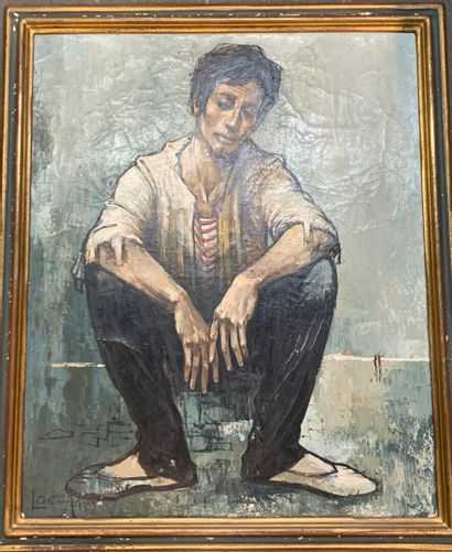 Albert LOCCA (1895-1966)  Homme assis  Huile...