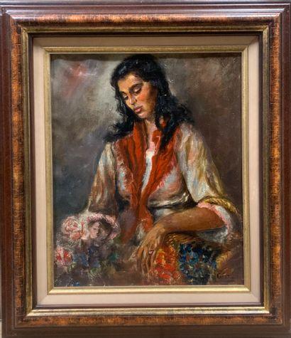Marcelle GRATA (active au XXe siècle)  Portrait...