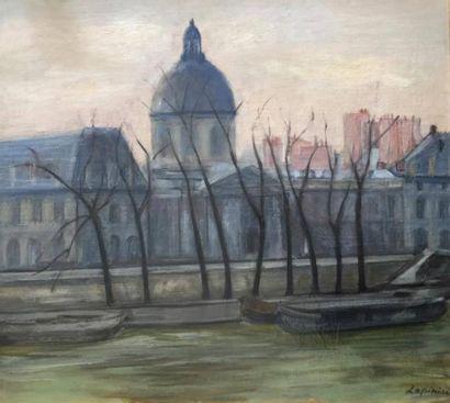 Ecole moderne  Vue de l'Institut et du Quai...