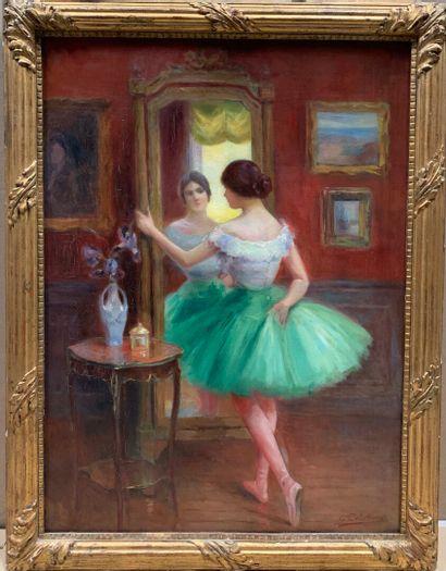 S. COLLOT (actif au XXe siècle)  Danseuse...