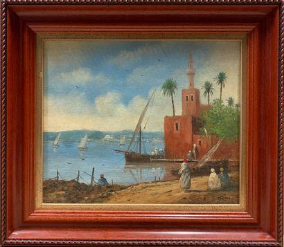 Gérard ROUX (né en 1946)  Bord de mer à Constantinople...