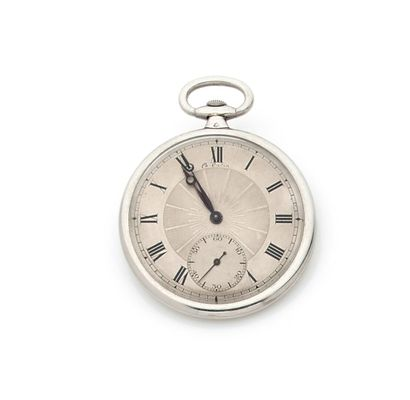 Gusset watch, the platinum case decorated...