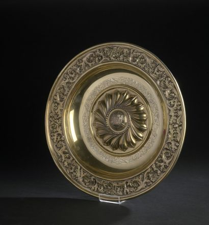 Vermeil dish (916), the applied border of...