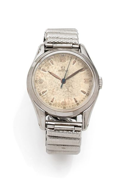 OMEGA - Men's wristwatch with round case...