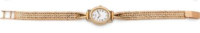 SEIKO - Ladies' wristwatch with oval gold-plated...