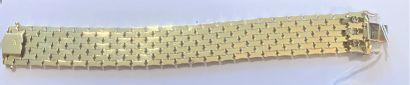 14K (585) yellow gold alloy flexible ribbon...