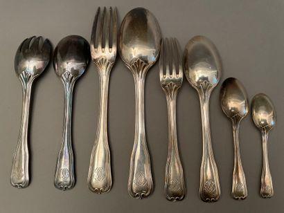 Silver housewife's part in silver, net model,...