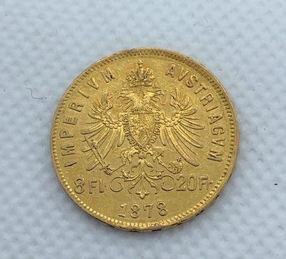 Gold coin of 8 florins/20 francs Emperor...