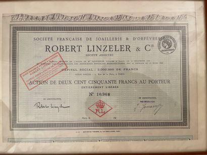Share of 250 francs of the Société Française...