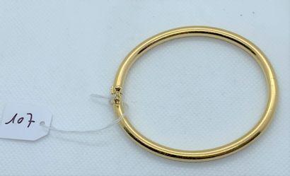 Rigid bracelet in 18K (750) yellow gold,...
