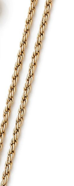 14K yellow gold twisted mesh necklace.  Weight: 22.3 g. - L. : 72 cm.
