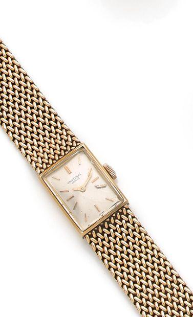 UNIVERSAL - Ladies' bracelet watch, rectangular...