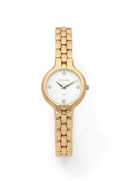 BUCHERER - Ladies bracelet watch, round case...