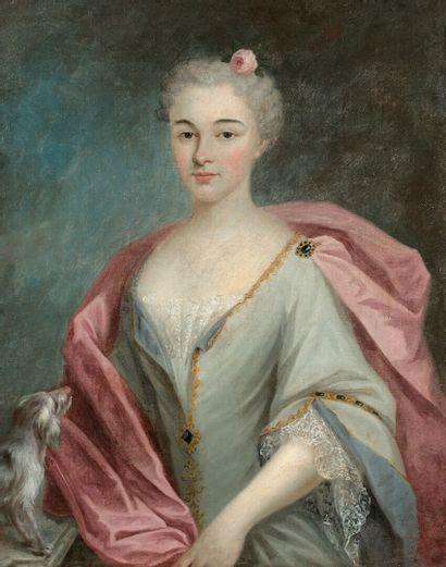 Ecole FRANCAISE du début du XVIIIème siècle  Portrait de Marie-Antoinette Vidaud...