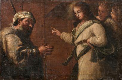 Ecole NAPOLITAINE vers 1640  Daniel expliquant...