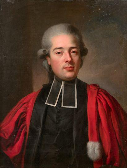 Johann WYRSCH  (Buochs 1732 - 1798)  Portrait de Hipolite Bouhelier  Sur sa toile...