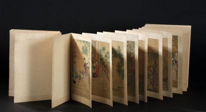 CHINE - XIXe siècle  Album en hauteur de...