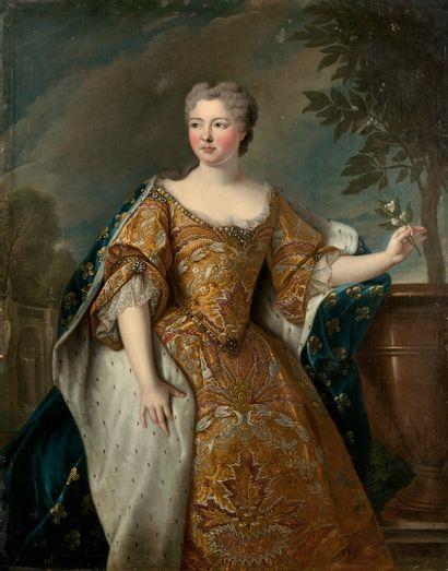 Ecole FRANCAISE vers 1720 Portrait d'une princesse de France Toile 136 x 106...