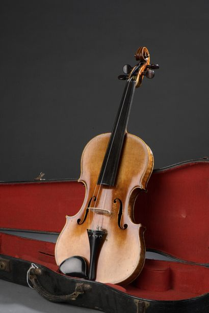 Violon allemand début 20e siècle, étiquette...