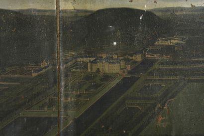 Ecole FLAMANDE vers 1670  Vue de château...