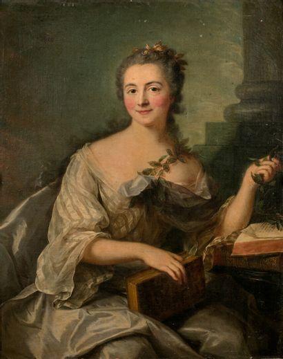 Marianne LOIR(Paris 17151775) Portrait de jeune femme en vestale Toile 100...