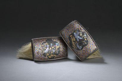 Deux brosses à habit, la monture du XVIIIe...