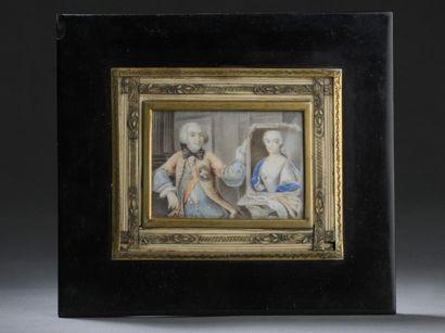 École du XVIIIe siècle  Gentilhomme présentant...