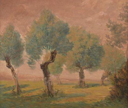Léo GAUSSON (1860-1944)  La clairière, 1885...