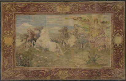 Ecole FRANCAISE de la fin du XIXème siècle  Arrivée triomphale du char de la reine...