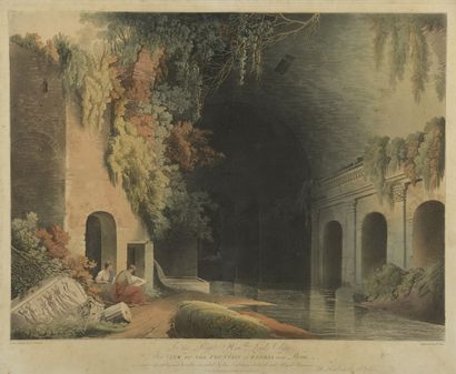 D'après Robert FREEBAIRN (1765-1808)  View of the fountain of Egeria  View of the...