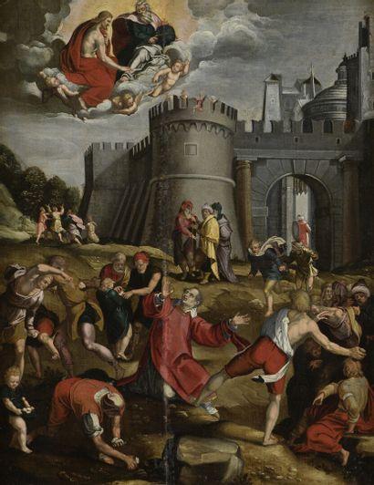 École d'UTRECHT vers 1620  La lapidation...