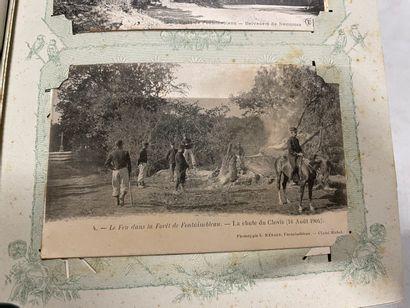 Un album de cartes postales de Fontainebleau....