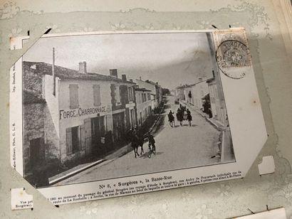 Un album de cartes postales de la Charente...