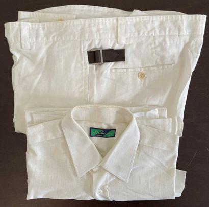HERMES, DALMORY  Lot composé d'un pantalon...
