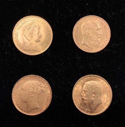 Lot de 4 pièces comprenant 2 pièces de 1...