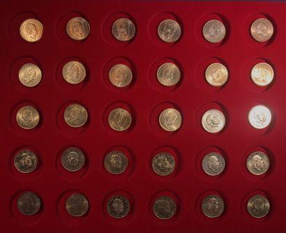 30 pièces de 10 florins des Pays-Bas en or,...