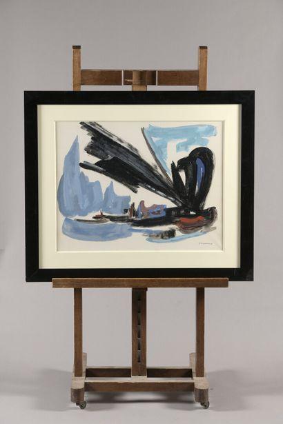 PICHETTE James (1920-1996)  Composition marine...