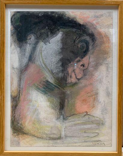 LORSCH Dominique (1930-1990)  Visage étrange...