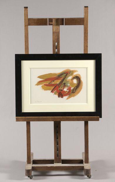 PICHETTE James (1920-1996)  Composition jaune...