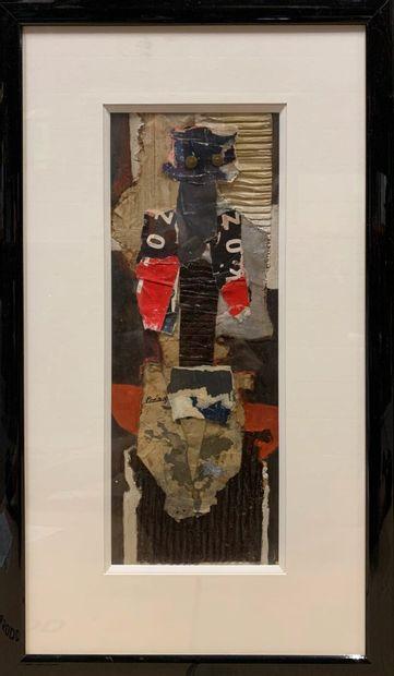 PRÉAUX Raymond (1916-1997)  Totem  Collage...
