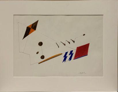 STOEBEL Edgar (1909-2001)  Composition au...
