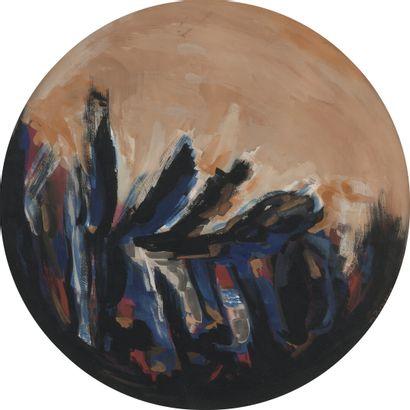 PICHETTE James (1920-1996)  Composition circulaire...
