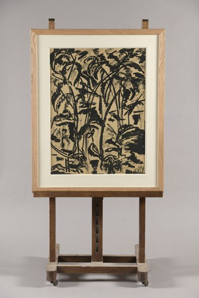 BURTIN Marcel (1902-1979)  Palmiers  Encre...
