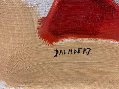 DALMBERT Daniel (né en 1918)  Groupe de l'échelle  Huile sur toile signée en bas...