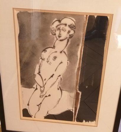 Luigi BARTOLINI (1892-1963)  Nu féminin  Encre...
