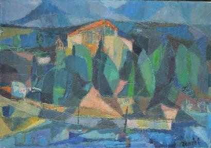 Gabriel ZENDEL  (Paris 1906 Paris 1994)  Village...