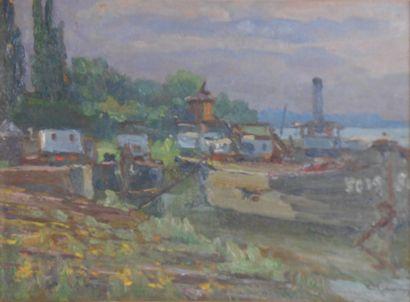 Adolf SCHWARZ  (Wien 1869 1926 Wien)  Schiffswerft...